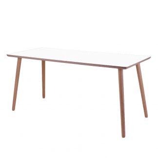 Skrivebord, Crystal White, lys kant