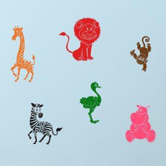 Wallsticker Zoo-dyr