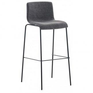 Barstol i polyester og metal H100 cm - Sort/Grå