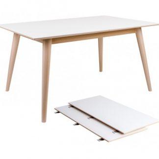 Copenhagen Spisebord med forlængerplader 150 - 230 x 95 cm - Natur/Hvid