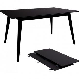 Copenhagen Spisebord med forlængerplader 150 - 230 x 95 cm - Sort
