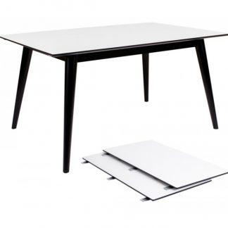 Copenhagen Spisebord med forlængerplader 150 - 230 x 95 cm - Sort/Hvid