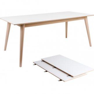 Copenhagen Spisebord med forlængerplader 195 - 285 x 90 cm - Natur/Hvid