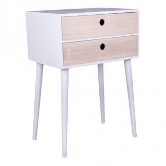 Parma Sengebord H65,5 x B45 cm - Natur/Hvid
