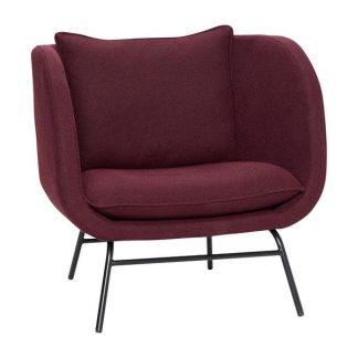 Rød loungestol grå