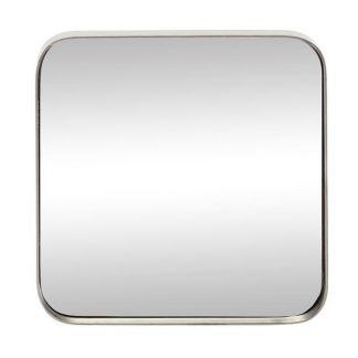 Spejl, firkantet, jern grå
