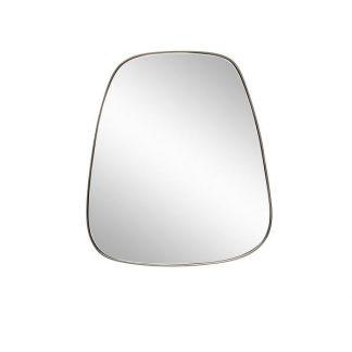Spejl m/jern-ramme, trapez grå