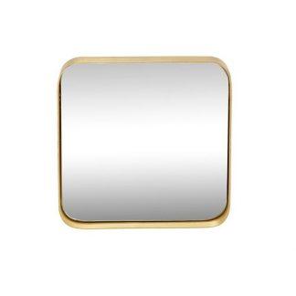 Spejl m/messing-ramme, firkantet, small grå