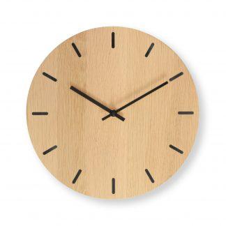 Vægur i eg med sorte visere - Plexi clock