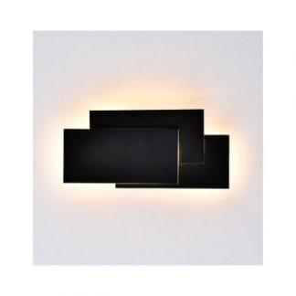 V-Tac 12W sort væglampe - IP20, 230V, Kulør: Varm, Dæmpbar: Ikke dæmpbar