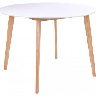 Vojens Rundt Spisebord H75 x Ø105 cm - Natur/Hvid