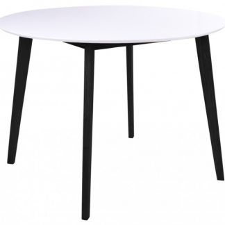 Vojens Rundt Spisebord H75 x Ø105 cm - Sort/Hvid