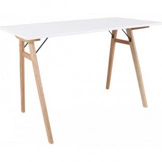 Vojens Skrivebord 120 x 60 cm - Natur/Hvid