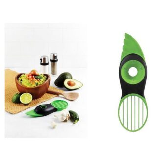 Avokado slicer 3 i 1 multiværktøj med skalkniv, udkerner og deler