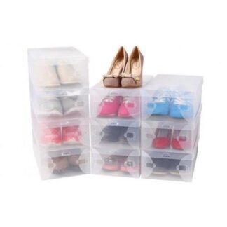 Pladsbesparende skoæsker (10 stk.)