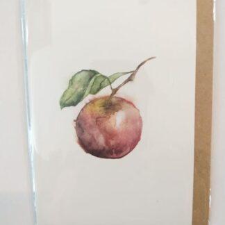 Kort med konvolut, æble