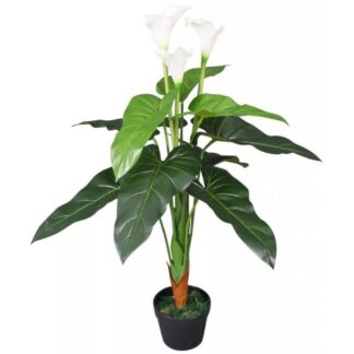Kunstig Kalla Lilje med potte 85 cm - Hvid