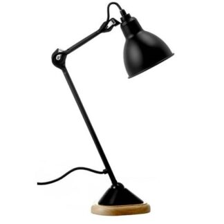 Lampe Gras No 206 bordlampe, træbase/matsort