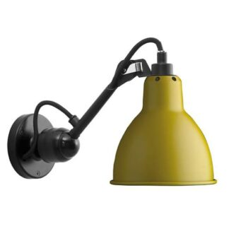 Lampe Gras No 304 Væglampe, sort/gul