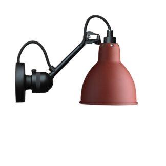 Lampe Gras No 304 Væglampe, sort/rød