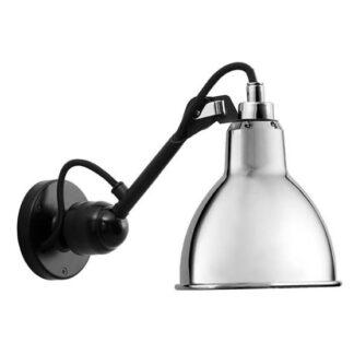 Lampe Gras No 304SW væglampe, sort/krom