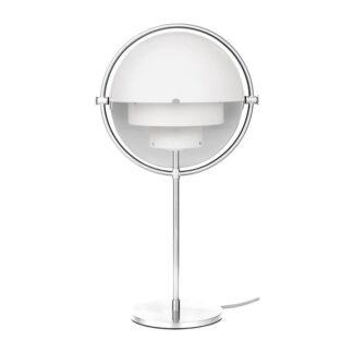 Multi-Lite Bordlampe, Hvid/Krom