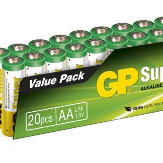 20 stk. GP AA Super Alkaline / LR6 / R6