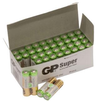 40 stk. GP AA Super Alkaline batterier