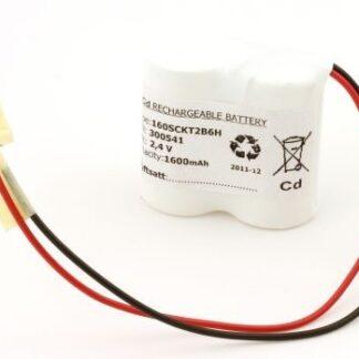Batteripakke til nødbelysning 2,4volt 1600mAh. Cd