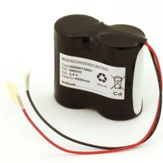 Batteripakke til nødbelysning 2,4volt 4500mAh. Cd