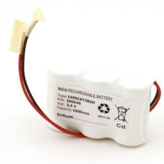 Batteripakke til nødbelysning 3,6volt 1600mAh. Cd