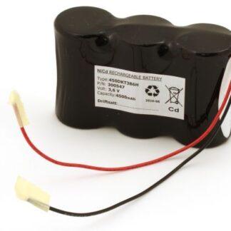 Batteripakke til nødbelysning 3,6volt 4500mAh. Cd