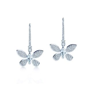 Flora butterfly øreringe