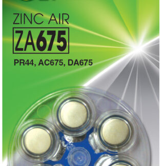 GP ZA675 1,4 V batterier