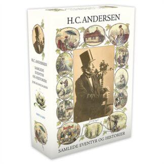 H.C. Andersen samlede eventyr med navn, blå - Gaver med navn