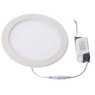 LEDlife 12W LED indbygningspanel - Hul: Ø18 cm, Mål: Ø21 cm, 230V, Kulør: Varm, Dæmpbar: Ikke dæmpbar