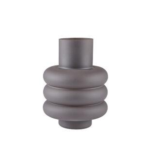 Vase grå glas