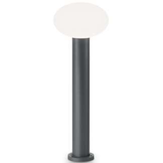 ARMONY Bedlampe i aluminium og plast H78 cm 1 x E27 - Antracit/Hvid