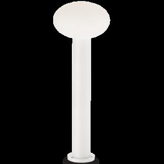 ARMONY Bedlampe i aluminium og plast H78 cm 1 x E27 - Hvid/Hvid