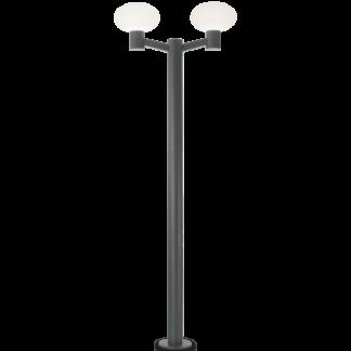 ARMONY Dobbelt Bedlampe i aluminium og plast H215 cm 2 x E27 - Antracit/Hvid