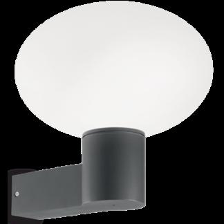 ARMONY Væglampe i aluminium og kunststof H27,5 cm 1 x E27 - Antracit
