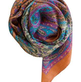 Abrikos silketørklæde