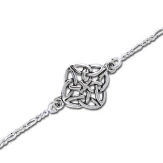 Ankelkæde med Keltisk knude mønster - 17cm