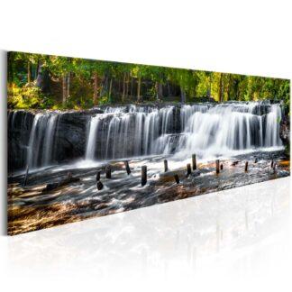 Artgeist billede - Fairytale Waterfall, på lærred 120x40