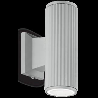 BASE Væglampe i aluminium H18 cm 2 x GU10 - Grå