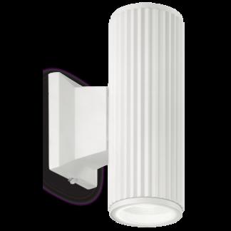 BASE Væglampe i aluminium H18 cm 2 x GU10 - Hvid