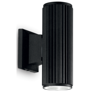 BASE Væglampe i aluminium H18 cm 2 x GU10 - Sort