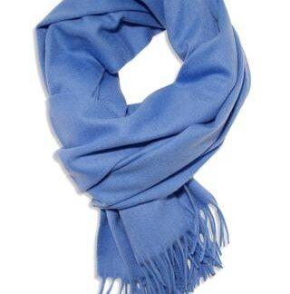 Blåt cashmere tørklæde i eksklusiv kvalitet