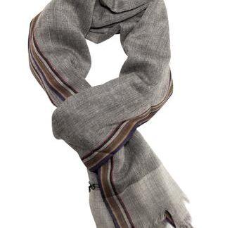Blødt og lækkert sildebensvævet tørklæde