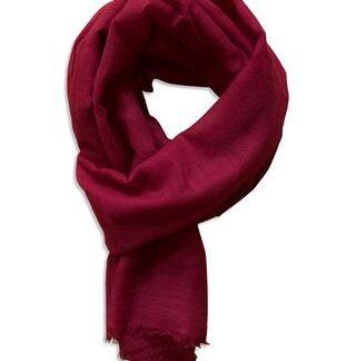 Bordeaux tørklæde i 100% blød og fin uld